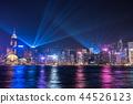 hongkong, hong kong, night scape 44526123