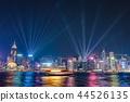hongkong, hong kong, night scape 44526135