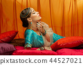 beautiful arabic style bride in ethnic clothes 44527021