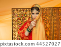 beautiful arabic style bride in ethnic clothes 44527027