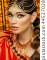 beautiful arabic style bride in ethnic clothes 44527028
