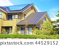 에코 하우스와 푸른 하늘과 초록 _ 비쳐 버전 _XL 44529152