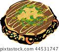 okonomiyaki, likes, vector 44531747
