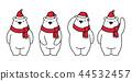 bear vector polar bear Christmas Xmas Santa Claus  44532457