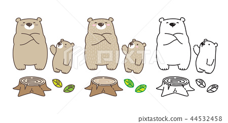 Bear vector Polar Bear icon logo kid leaf cartoon  44532458