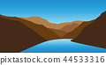 blue creek between mountains landscape 44533316