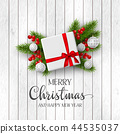 Christmas and New Year holiday design. 44535037