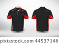 Red, black and white layout e-sport t-shirt design 44537146