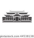 Shuri Castle silhouette 44538138