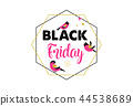 Black Friday, Christmas sale banner, poster template 44538689