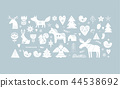 Christmas illustrations, banner design hand drawn elements in Scandinavian style 44538692