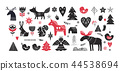 Christmas illustrations, banner design hand drawn elements in Scandinavian style 44538694