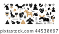 Christmas illustrations, banner design hand drawn elements in Scandinavian style 44538697