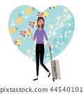 夏威夷海外旅行婦女例證 44540101