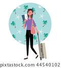 夏威夷海外旅行婦女例證 44540102
