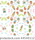 white background, hawaii, pattern 44540112