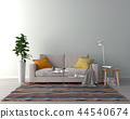 Living room interior - empty wall background 44540674
