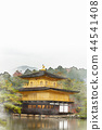 Kinkakuji水彩繪畫,秋葉在京都,日本 44541408
