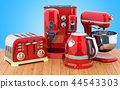 Red stainless electric tea kettle, coffeemaker 44543303