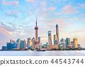 Sunset Shanghai skyline, modern architecture 44543744