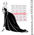 Ball gown dress and town black dress 44546158