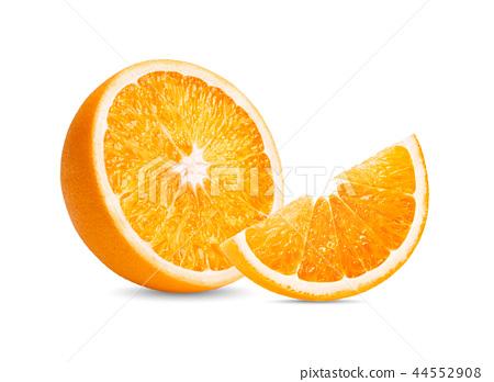 Orange fruit. Orange slice isolate  44552908