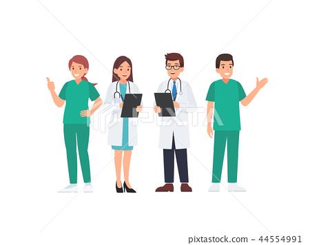 Medical team in uniform cartoon character 44554991