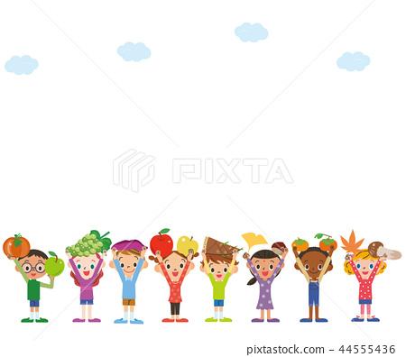 재료의 수확 아이들 하늘 44555436
