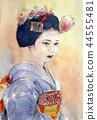기온의 마이코 교토 여성 단풍 가을 혼자 44555481