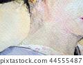 목덜미 목덜미 마이코 게이샤 화장 44555487