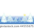 전나무 크리스마스 카드 (파스텔 블루) _3 44555675