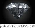 Classic, photorealistic diamond isolated on black  44555739