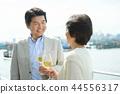 资深夫妇旅行酒生活方式图象 44556317