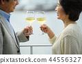 资深夫妇旅行酒生活方式图象 44556327