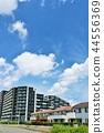與刷新的藍天的都市風景風景 44556369