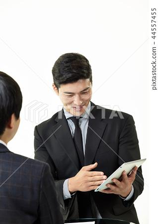 한국인,남자,비지니스,정장 44557455