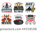 Musical instruments, jazz music festival icons 44558598