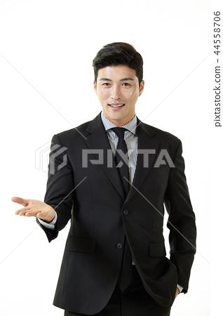한국인,남자,비지니스,정장 44558706