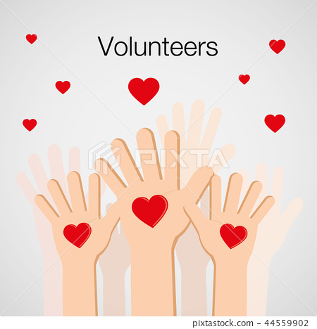 Volunteers and Charity Human Hand Up Vector 44559902