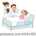 Hospitalized patients and doctors and nurses 44561483