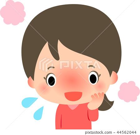 一个脸色变红的女人 44562044