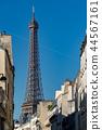 Tour Eiffel paris tower symbol close up detail 44567161
