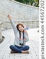 少婦,大學生,韓國,旅行,石牆,擴音器,漢城 44567202
