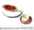 Gohirai和日本茶在水彩畫 44567391
