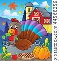 turkey Thanksgiving cake 44568259