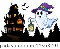 ghost hat lantern 44568291
