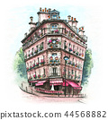 Typical Parisian house, France 44568882
