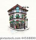 Typical Parisian house, France 44568890