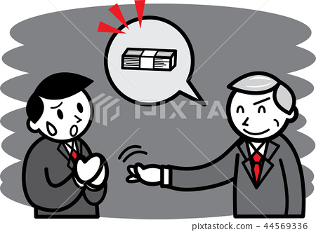 Man who is in trouble with men who request a bribe 44569336