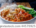kimchi hotpot, pot, food cooked in a pot 44570925